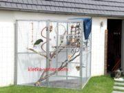 вольер для благородного попугая