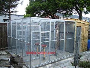 клетка вольер для попугаев
